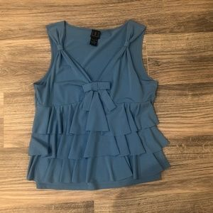 INC Ruffle Bow Front Tank Top